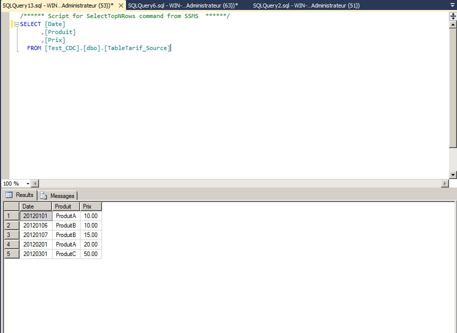 efficace datation SQL